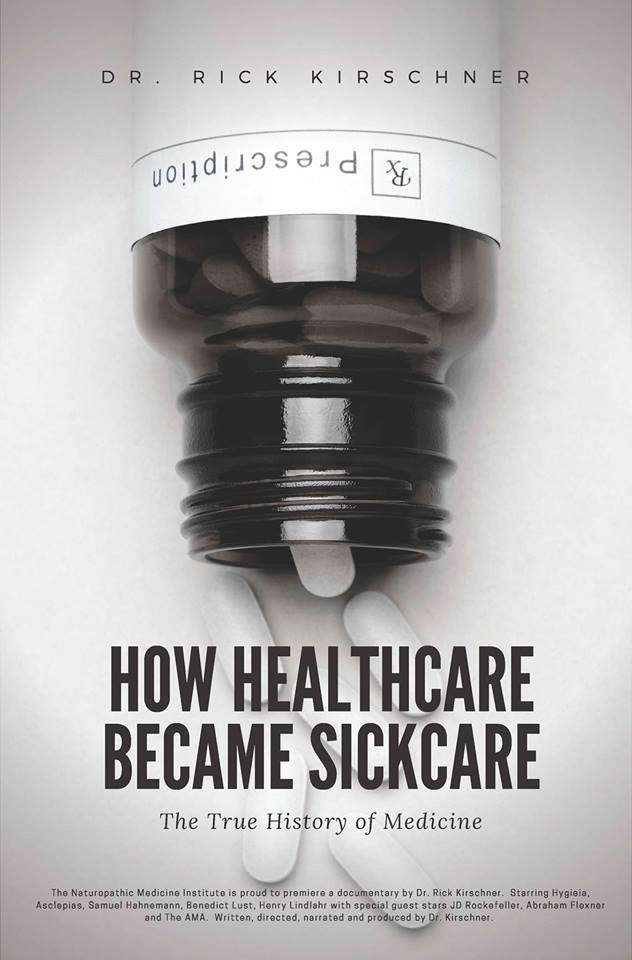 Poster and information for Dr Kirschner's documentary film: How Healthcare Became Sick Care, the True History of Medicine