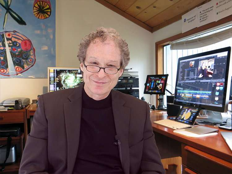 Motivational speaker and best selling author Dr. Rick Brinkman at his home office amongst the trees of Oregon.