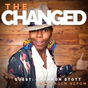 Improviser Shannon Stott guests on the Changed Podcast 8.13.22, photo credit: Steve Rogers Photography