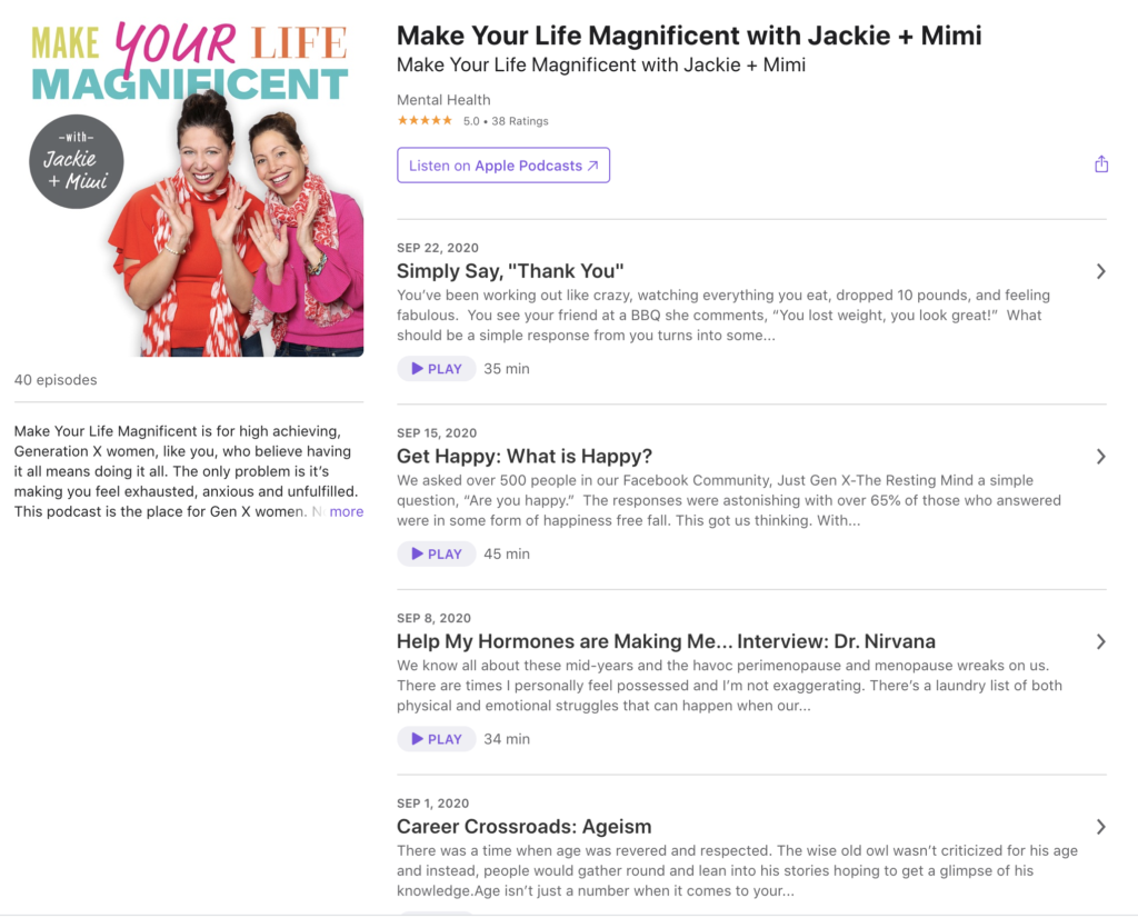Mimi Bishop and Jackie Ghedine are hosts of the Make Your Life Magnificent with Jackie + Mimi podcast. Learn more about them by listening to episode 17 of the Changed Podcast